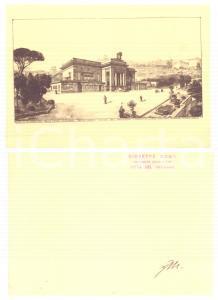 1930 ca Giuseppe MOMO - Progetto stazione CITTA' DEL VATICANO - Autografo