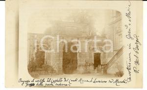 1906 MONTA' D'ALBA Ingresso cortile del castello MORRA DI LAURIANO *Cartolina