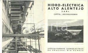 1953 HIDRO-ELECTRICA ALTO ALENTEJO (PORTUGAL) Barragem de PRACANA *Pieghevole