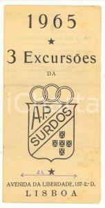 1965 LISBOA Associação Portuguesa de Surdos - Programa 3 Excursoes