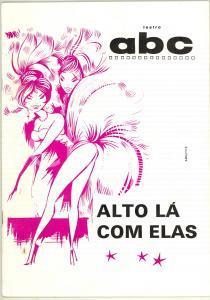 1970 LISBOA TEATRO ABC Alto là com elas- Rivista ILLUSTRATA programma