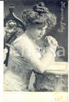 1900 ca THEATRE Actress Manon LOTY in a white dress *VINTAGE postcard ALTEROCCA