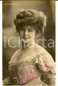 1908 THEATRE Actress Betty DARMAND - Portrait - VINTAGE colored postcard FP VG
