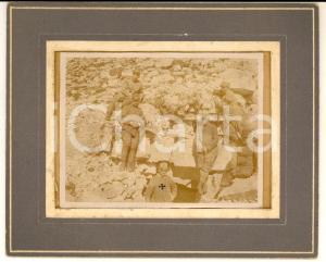 1915 ca WW1 ITALIA GUERRA ALPINA Soldati presso una galleria *Foto 16x13