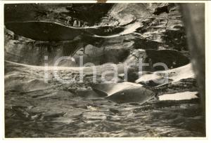 1940 ca ITALIA Veduta aerea di una zona vulcanica - Fotografia 18x12 cm