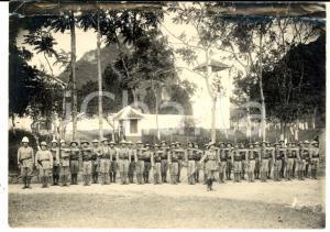 1920 ca BIRMANIA (?) COLONIALISMO Ufficiali con truppe locali *Foto 18x13 cm