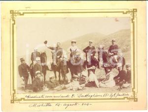 1904 MISTRETTA Graduati 2° Battaglione 58° Reggimento Fanteria - Foto 22x16