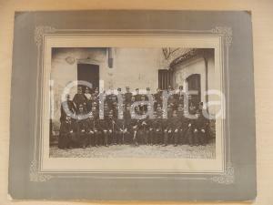 1910 ca TORINO REGIO ESERCITO Battaglione di ufficiali in cortile *Foto M. ANDRE