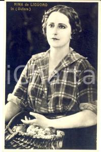 1925 ca CINEMA Attrice Rina DE LIGUORO in