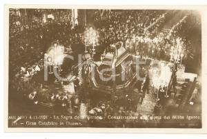 1921 MILANO Sagra della Vittoria - Consacrazione del Milite Ignoto *Cartolina