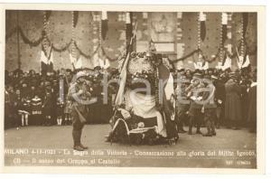 1921 MILANO Sagra della Vittoria - Il sasso del Grappa al Castello *Cartolina