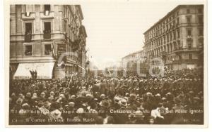1921 MILANO Sagra della Vittoria - Il corteo in viale Bianca Maria *Cartolina
