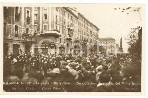1921 MILANO Sagra della Vittoria - Il corteo in corso Vittoria *Cartolina