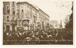 1921 MILANO Sagra della Vittoria - Consacrazione del Milite Ignoto - Cartolina