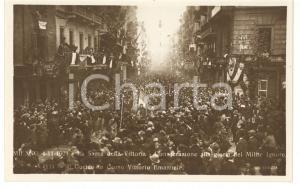 1921 MILANO Sagra della Vittoria - Il corteo in corso Vittorio Emanuele