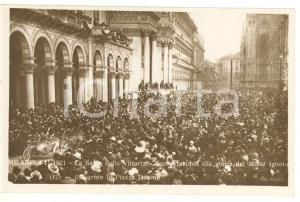 1921 MILANO Sagra della Vittoria - Il corteo in Piazza Duomo *Cartolina