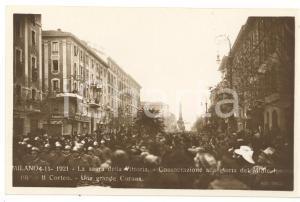 1921 MILANO Sagra della Vittoria - Corteo Milite Ignoto - Una grande Corona