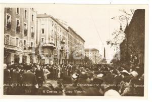 1921 MILANO Sagra della Vittoria - Consacrazione alla gloria del Milite Ignoto
