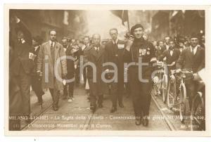 1921 MILANO Sagra della Vittoria - Benito MUSSOLINI apre corteo MILITE IGNOTO