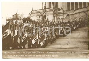 1921 ROMA Sagra della Vittoria - Le bandiere salutano la salma del Milite Ignoto