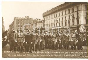 1921 ROMA Sagra della Vittoria - Decorati Medaglia d'Oro con salma Milite Ignoto