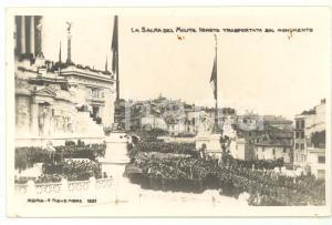 1921 ROMA Sagra della Vittoria - Salma Milite Ignoto sull'Altare della Patria