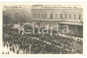 1921 ROMA Sagra della Vittoria - La salma del Milite Ignoto arriva a Roma