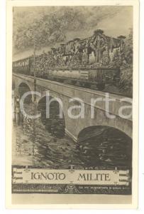 1920 ca ARTE Ignoto Milite - Da un'acquatinta di Giulio RICCI *Cartolina