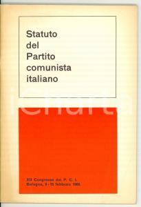 1969 PARTITO COMUNISTA ITALIANO Statuto XII Congresso *Pubblicazione 46 pp.