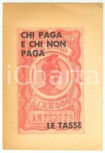 1964 PCI Chi paga e chi non paga le tasse - Pubblicazione 12 pp. *PROPAGANDA