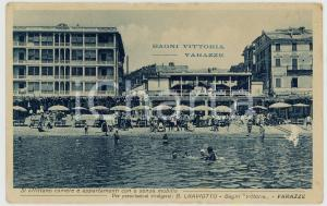 1915 ca VARAZZE (SV) Veduta dei BAGNI VITTORIA *Cartolina animata FP VG
