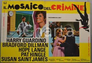 1968 IL MOSAICO DEL CRIMINE Harry GUARDINO Hope LANGE Fotobusta 66x46 cm