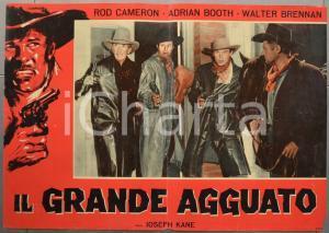 1960 ca IL GRANDE AGGUATO Rod CAMERON Adrian BOOTH Fotobusta WESTERN 66x46 cm
