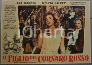 1959 IL FIGLIO DEL CORSARO ROSSO Emilio SALGARI Lex BARKER Fotobusta 66x46