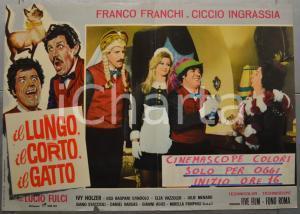 1967 IL LUNGO, IL CORTO, IL GATTO Franco e Ciccio - Lucio FULCI Fotobusta 66x46