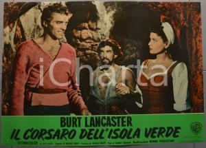 1953 IL CORSARO DELL'ISOLA VERDE Burt LANCASTER Fotobusta 66x46 cm (1)