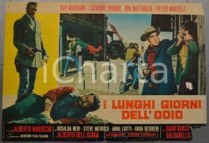 1968 I LUNGHI GIORNI DELL'ODIO Guy MADISON Lucienne BRIDOU Fotobusta 66x46 (2)