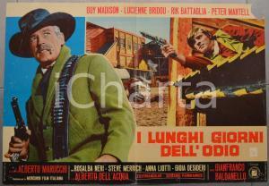 1968 I LUNGHI GIORNI DELL'ODIO Guy MADISON Lucienne BRIDOU Fotobusta 66x46 (1)