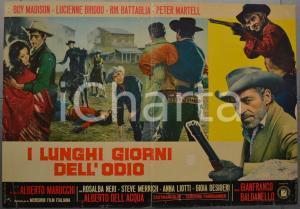 1968 I LUNGHI GIORNI DELL'ODIO Guy MADISON Lucienne BRIDOU Fotobusta 66x46 cm