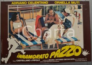 1981 INNAMORATO PAZZO Adriano CELENTANO Ornella MUTI Fotobusta 60x40 cm