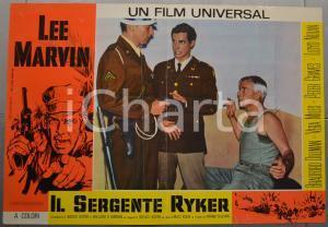 1968 IL SERGENTE RYKER Lee MARVIN Bradford DILLMAN Vera MILES Fotobusta 66x46 cm