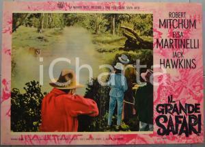 1963 IL GRANDE SAFARI Robert MITCHUM Elsa MARTINELLI Fotobusta 66x46 cm