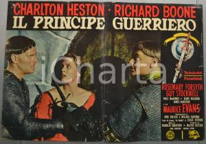 1965 IL PRINCIPE GUERRIERO Charlton HESTON Richard BOONE Fotobusta 66x46 cm (3)