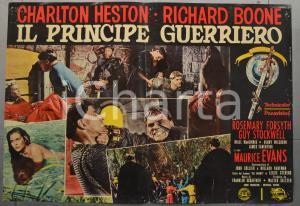 1965 IL PRINCIPE GUERRIERO Charlton HESTON Richard BOONE Fotobusta 66x46 cm (2)