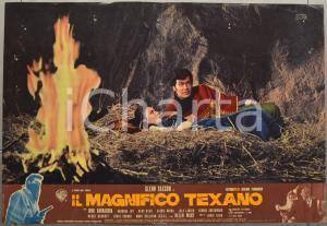 1967 IL MAGNIFICO TEXANO Glenn SAXSON John BARRACUDA Fotobusta WESTERN 66x46 cm