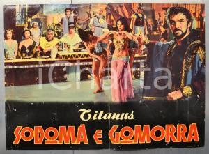 1962 SODOMA E GOMORRA Stewart GRANGER Stanley BAKER Sergio LEONE Fotobusta 66x46