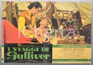 1960 I VIAGGI DI GULLIVER Ray HARRYHAUSEN Kerwin MATHEWS Fotobusta 66x46 cm