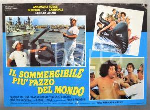 1982 IL SOMMERGIBILE PIÙ PAZZO DEL MONDO Giorgio ARIANI Bombolo Fotobusta 66x46