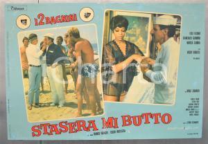 1967 STASERA MI BUTTO - FRANCO E CICCIO Lola FALANA Nino TARANTO Fotobusta 66x46