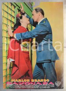 1957 SAYONARA Marlon BRANDO Miiko TAKA Patricia OWENS Fotobusta DANNEGGIATA